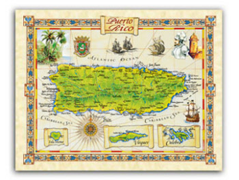 """19.5 x 25/"""" St Augustine Vintage Look Map Printed on Frenchtone Parchment Paper"""